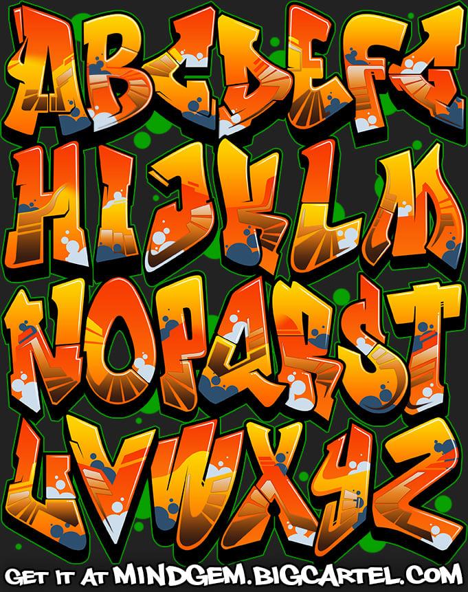 Image of Graffiti Font - Shovel