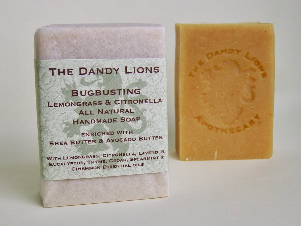 Image of Bugbusting Lemongrass and Citronella Soap enriched with Shea and Avocado butters