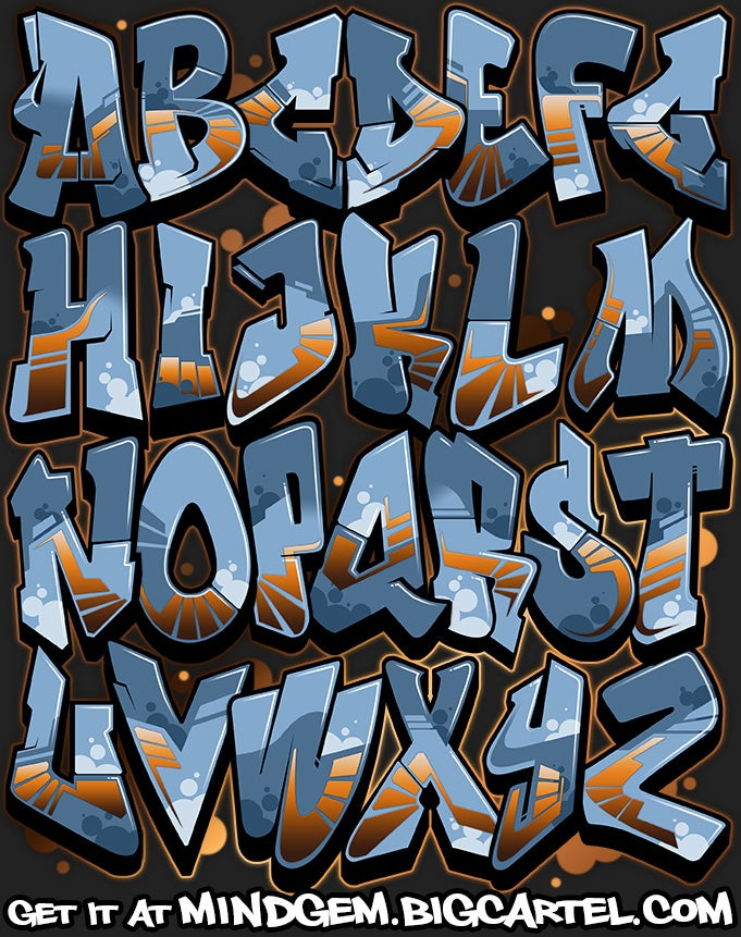 Image of Graffiti Font - Outsourced