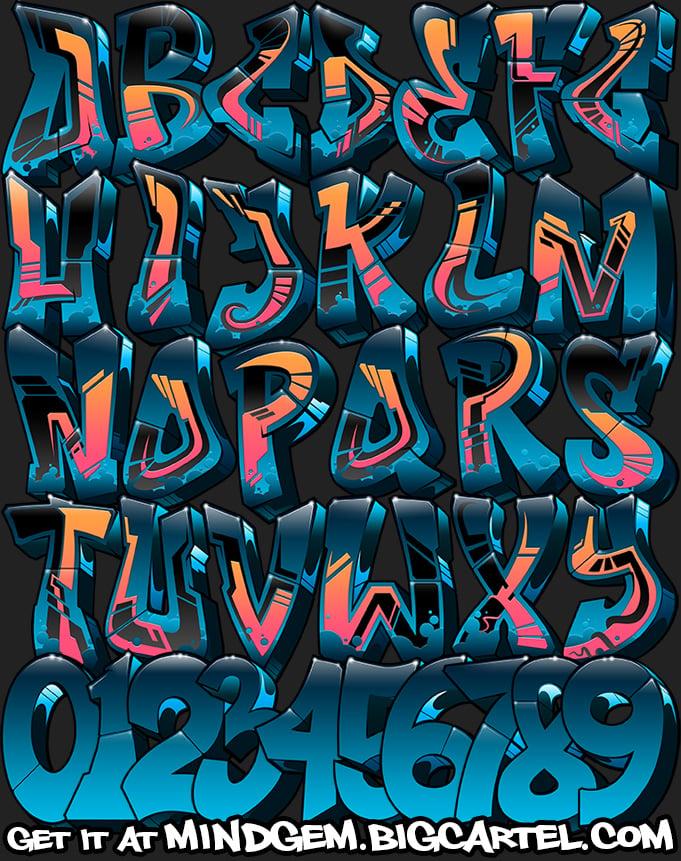 Image of Graffiti Font - Egopoly