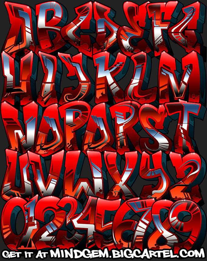 Image of Graffiti Font - Warlock
