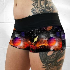 Image of Planet Space Fold Over Shorts