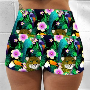 Tropical Jungle Fold Over Shorts