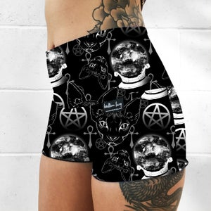 Image of Sphynx Cat Occult Fold Over Shorts