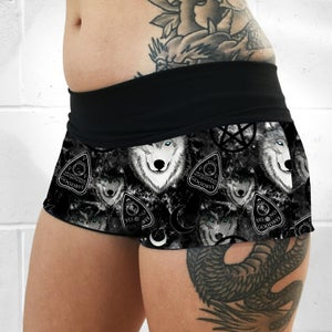 Image of Spirit Wolf Fold Over Shorts