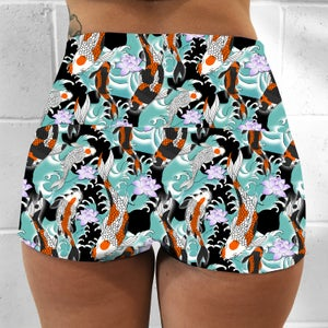 Koi Pond Fold Over Shorts