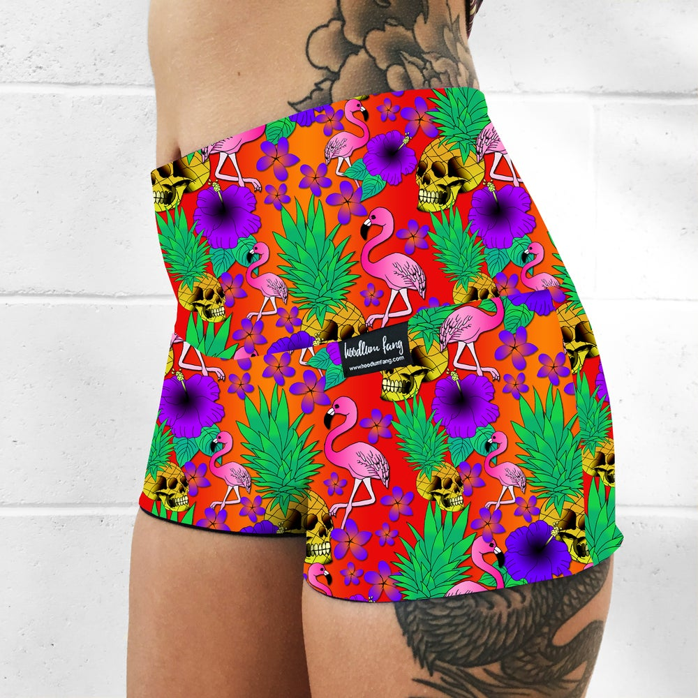 Image of Pineapple Skulls Fold Over Shorts