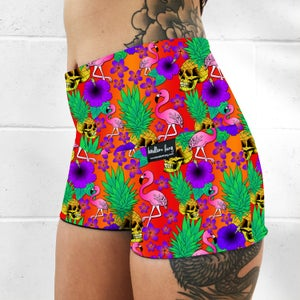 Pineapple Skulls Fold Over Shorts
