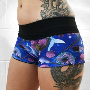 Image of Space Narwhals Fold Over Shorts