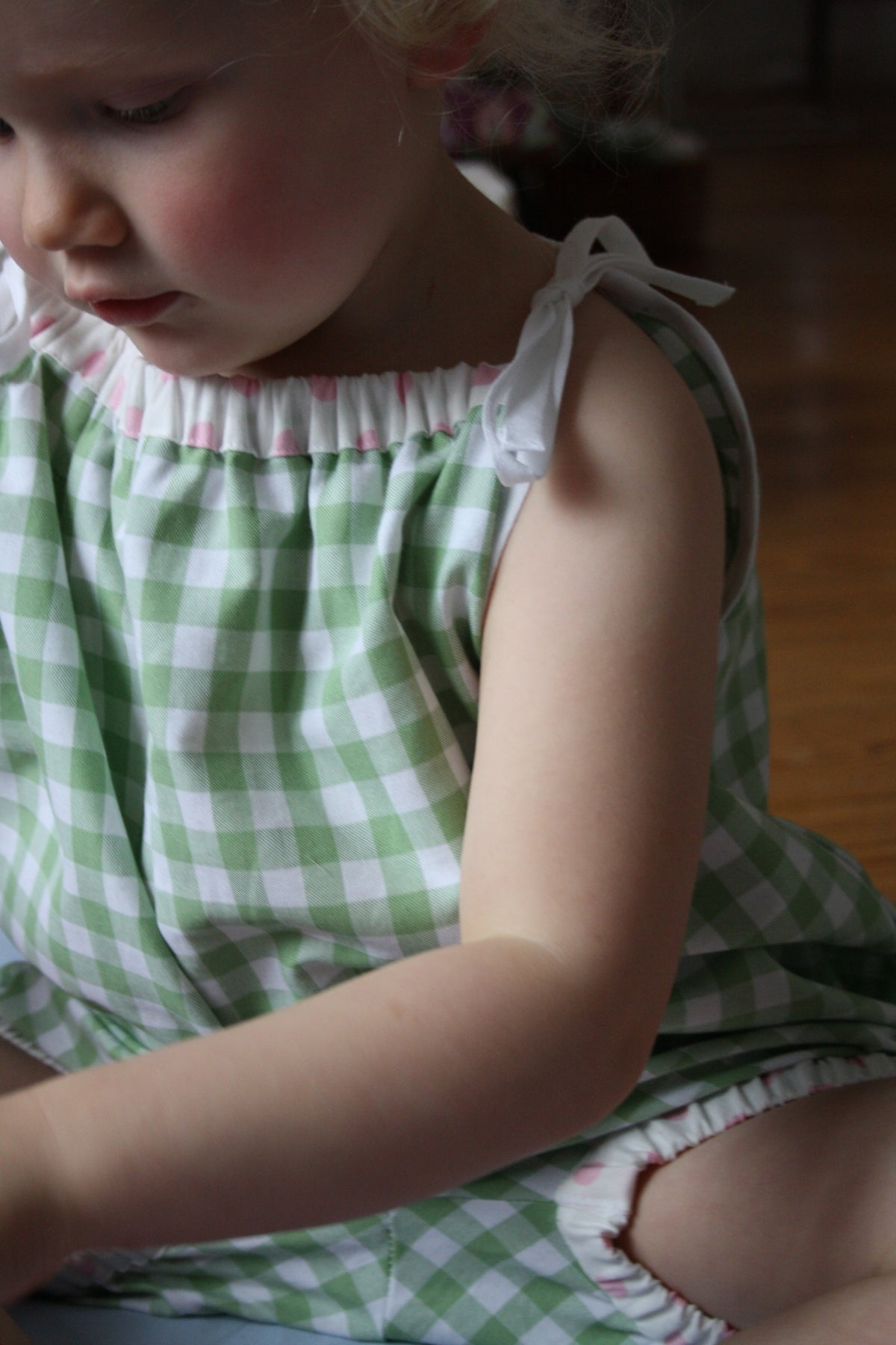 50s Playsuit - pink or green check
