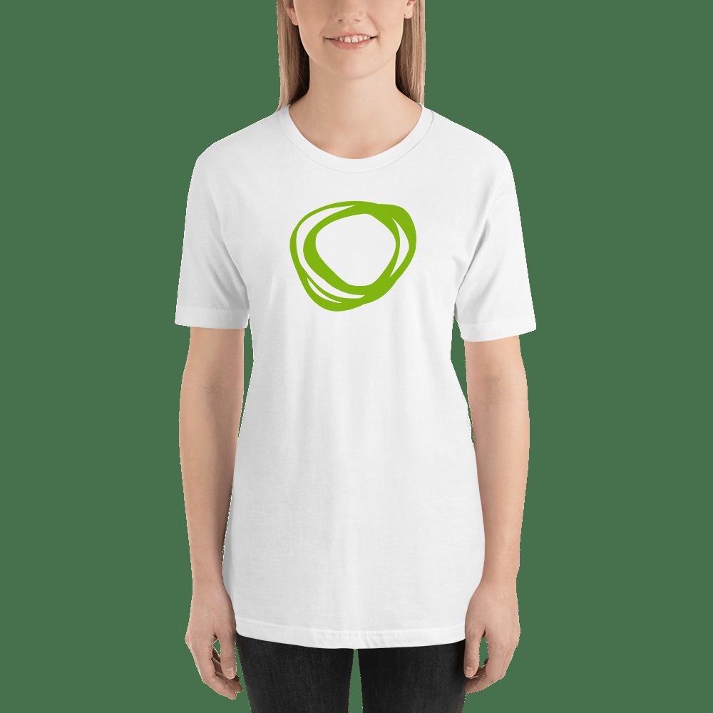 """Image of TNM """"Swirl"""" White T-Shirt"""
