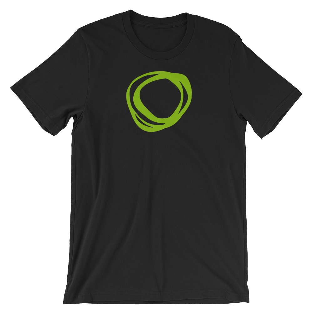 "Image of TNM ""Swirl"" Black T-Shirt"
