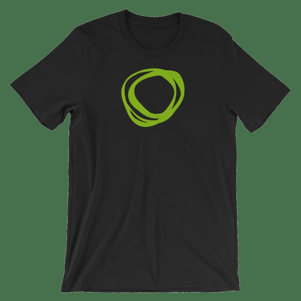 """Image of TNM """"Swirl"""" Black T-Shirt"""