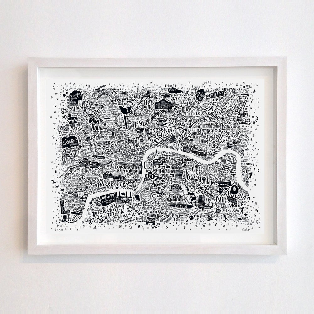 Image of London Film Map (A2)