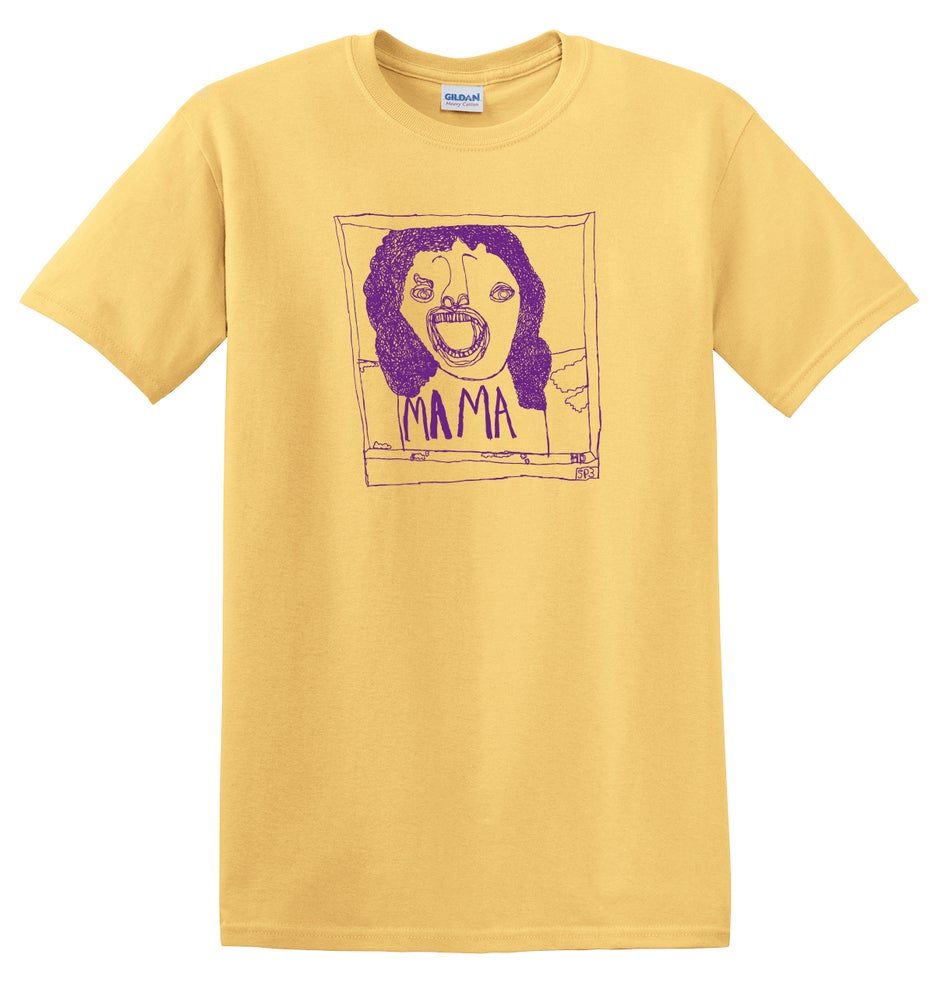 Image of KMAdotcom Alan's Bohemian Rhapsody 'Mama' T shirt (yellow)