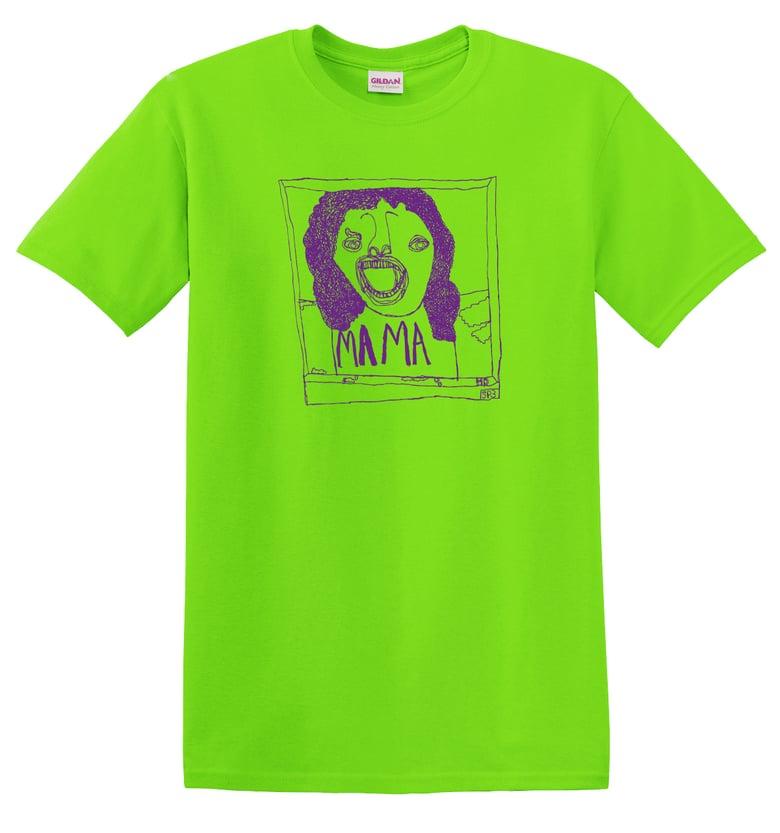 Image of KMAdotcom Alan's Bohemian Rhapsody 'Mama' T shirt (green)