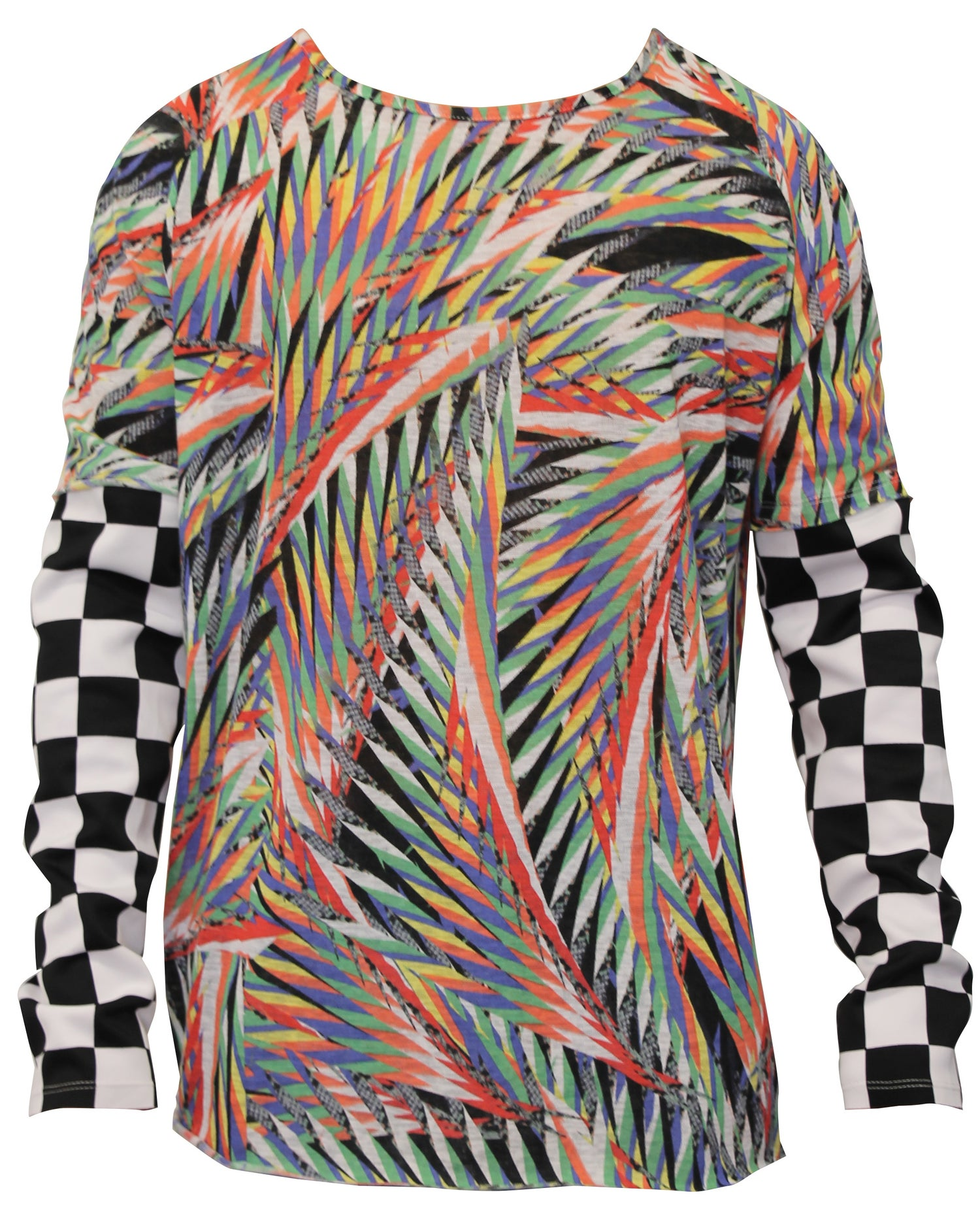 Image of Printed Slub Long Sleeve Shirt
