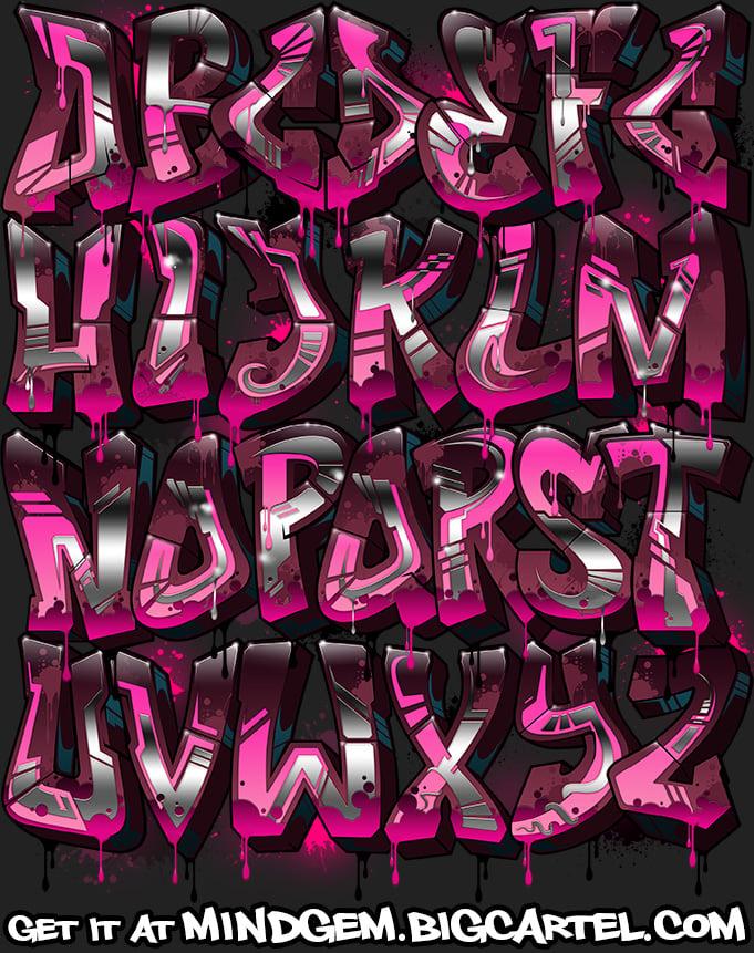 Image of Graffiti Font - Chloe