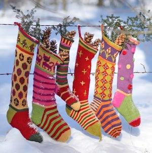 Image of Knit PDF - Kristin's Creative Christmas Stocking Pattern Download