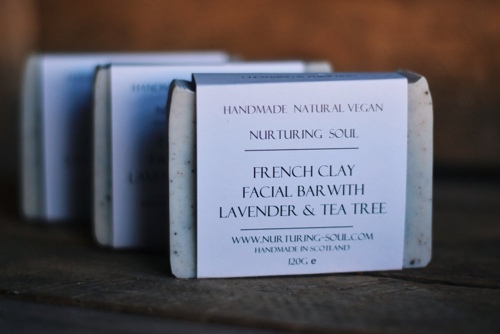 Image of French Clay Facial Bar With Lavender & Tea Tree