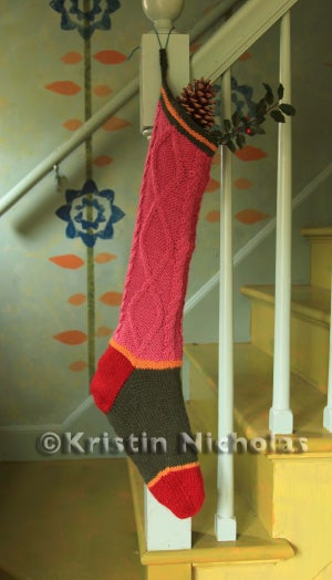 Image of Knit PDF - Kristin's Colorful Christmas Stocking Pattern Download
