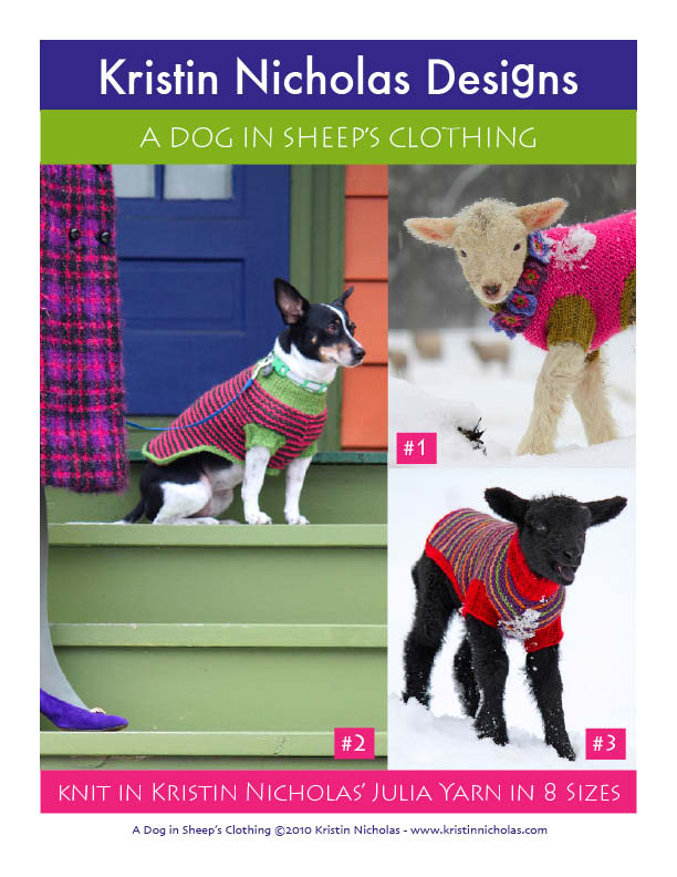 Knit PDF - A Dog in Sheep's Clothing Dog Sweater Download