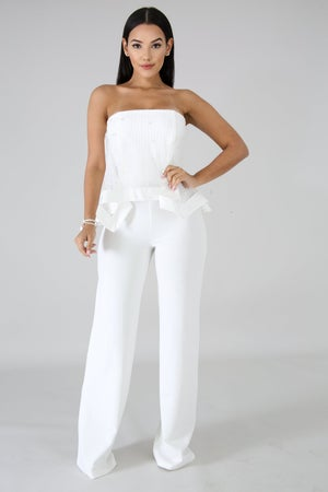 Image of Forever or Never Pearl Tube Jumpsuit