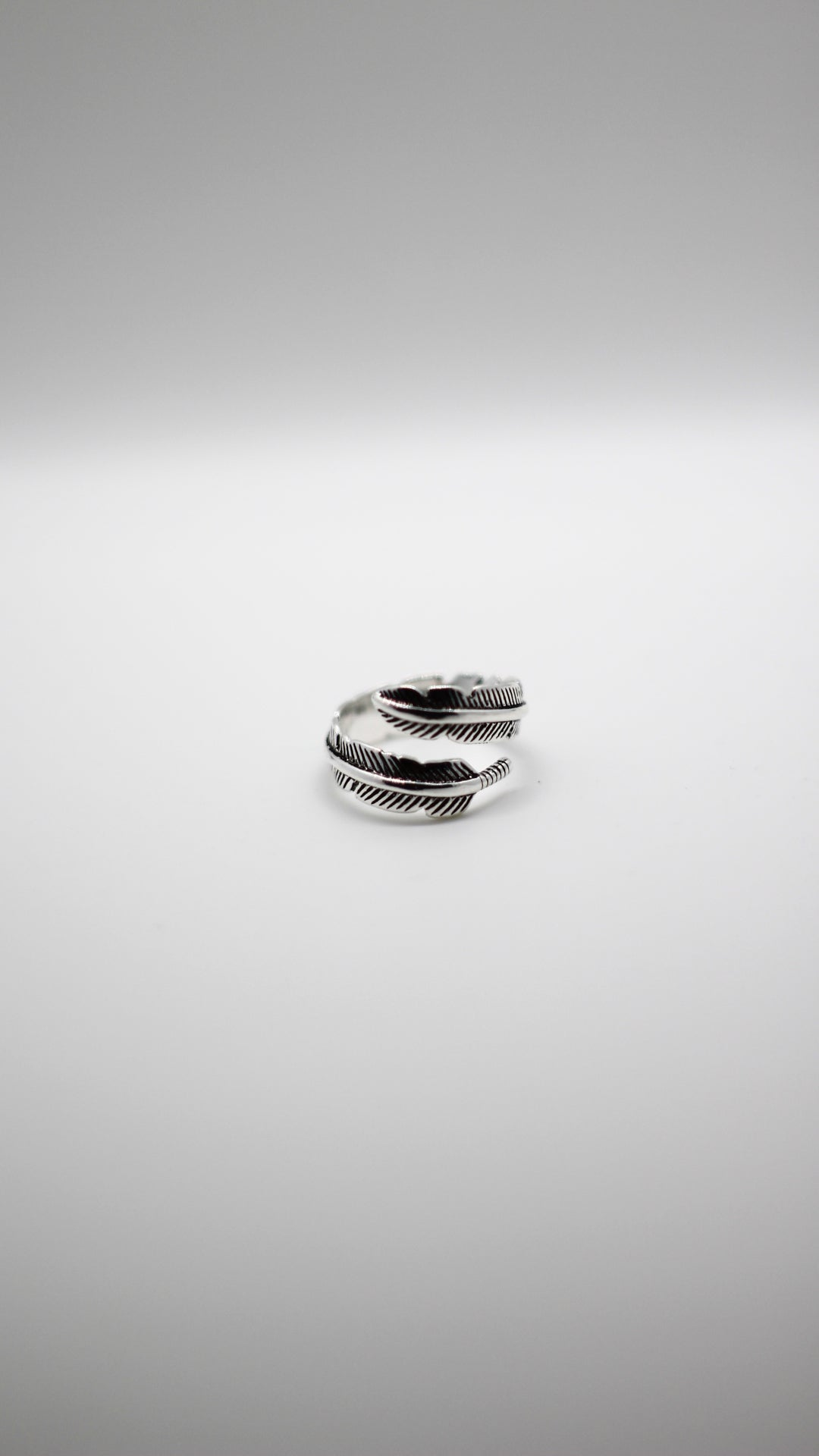Image of 925 Silver Feather Ring