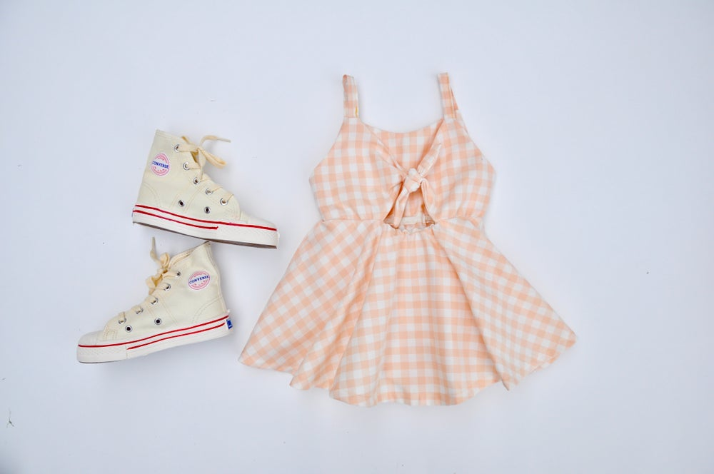 Image of Sunday Dress in Blush Gingham
