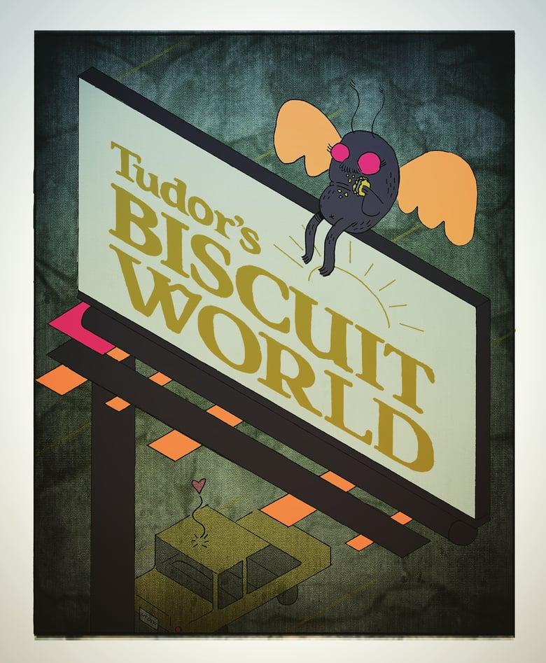 Image of Mothman Biscuit Print