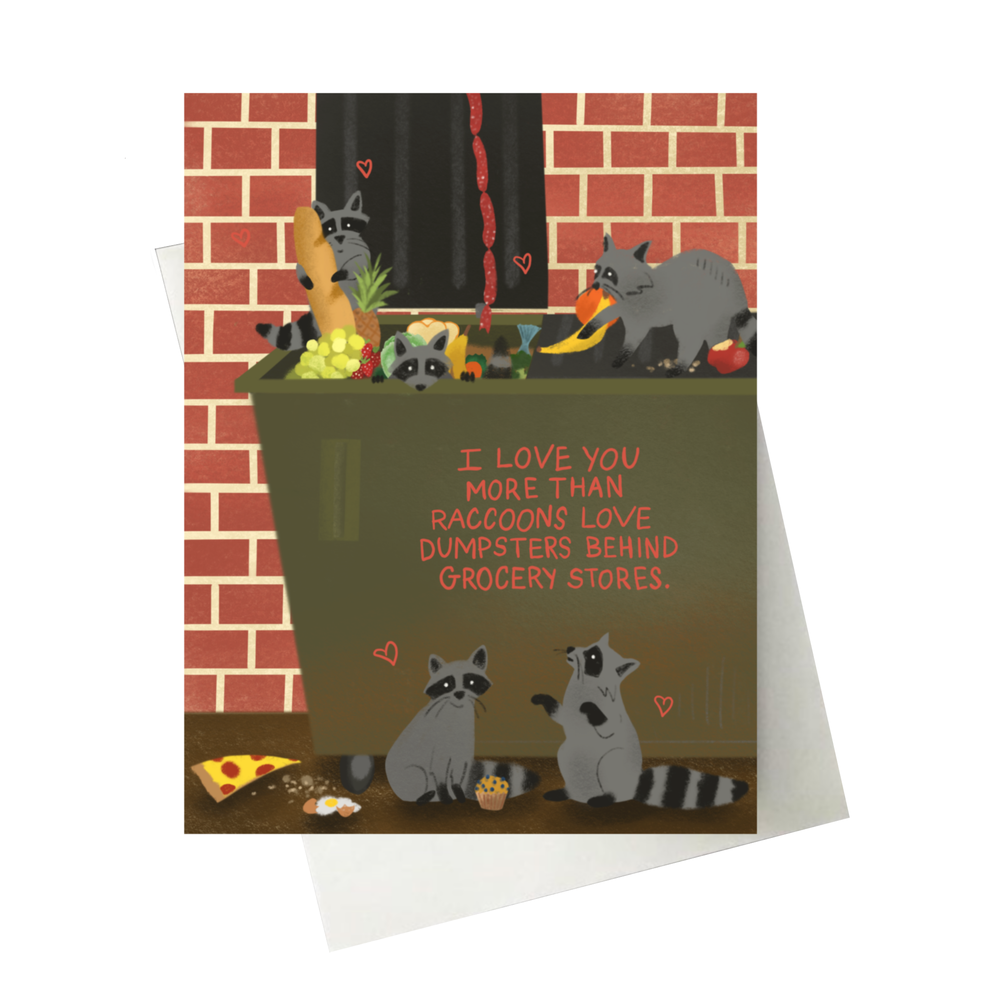 Image of Raccoon Card
