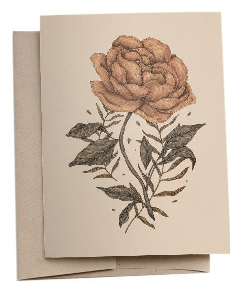 Image of Peony and Fern Card