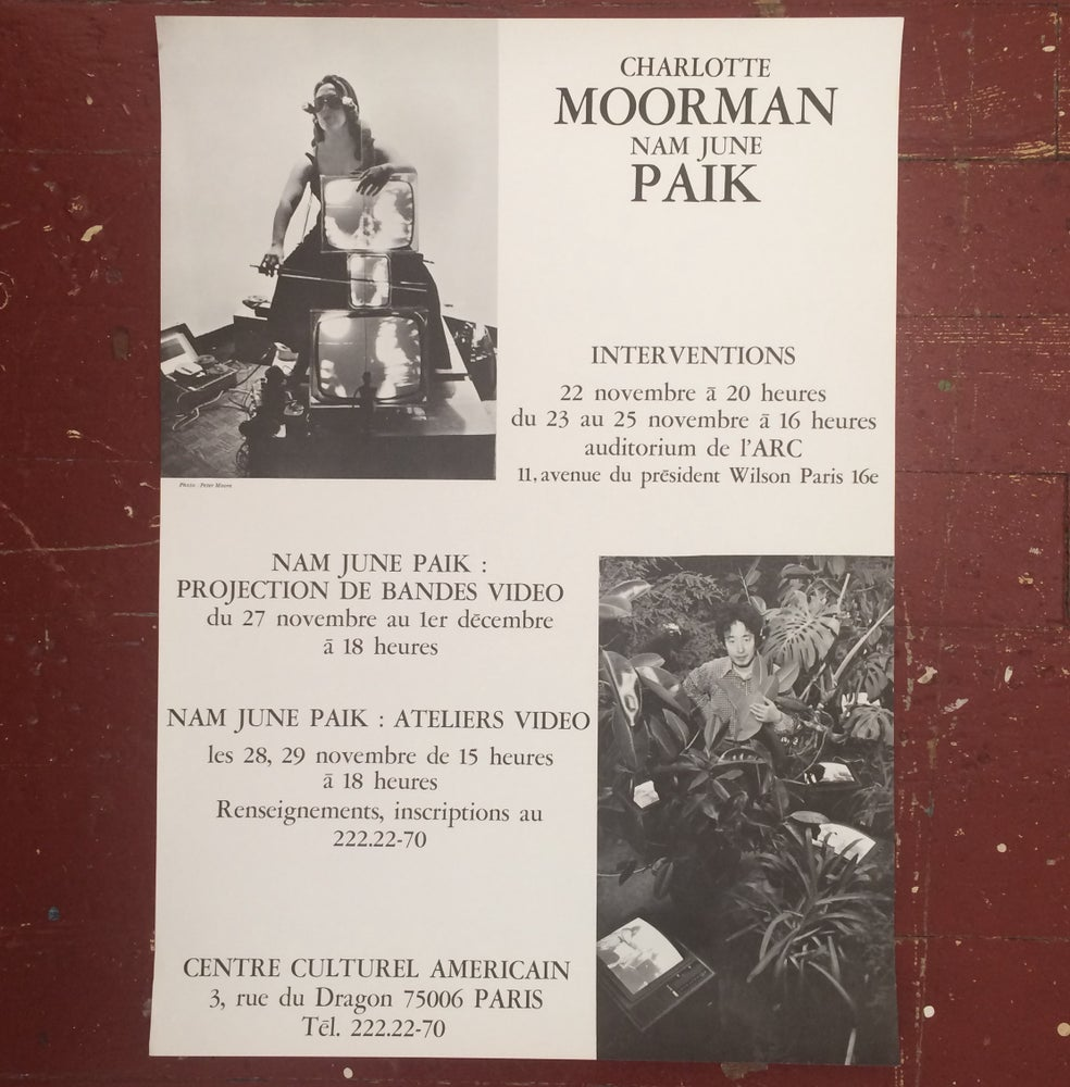 Image of Charlotte Moorman/Nam June Paik Interventions Poster
