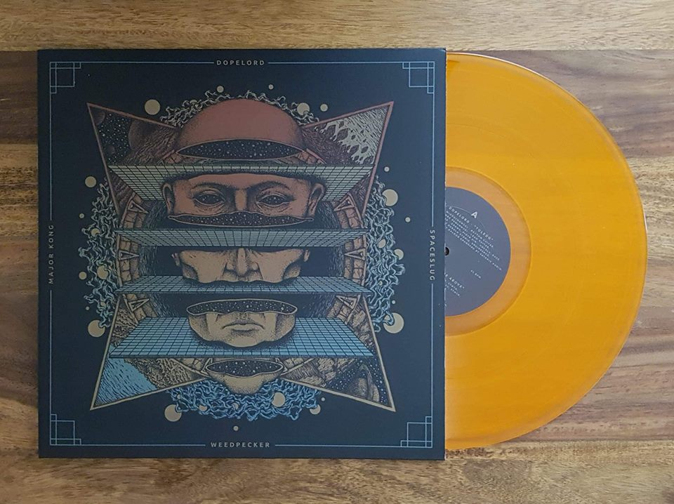 Image of 4way Split (Vinyl) Transparent Orange