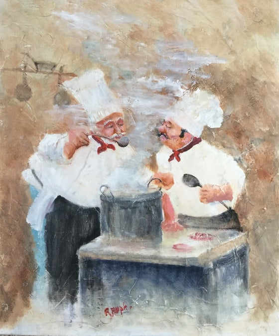 Image of 'Chef's Opinion' Large Giclee Canvas
