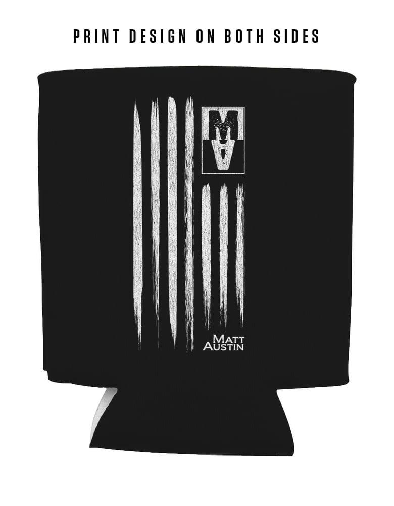 Image of MA American Flag Koozie