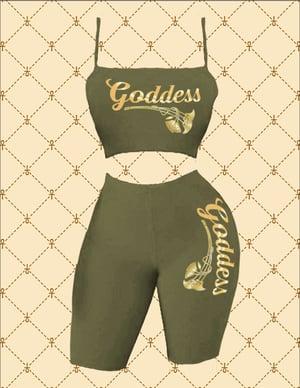 Image of Goddess Crop Spaghetti Strap Top & Short Set