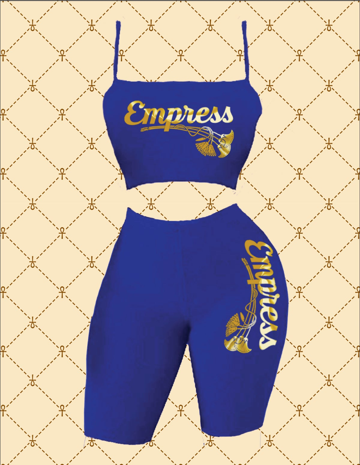 Image of Empress Crop Spaghetti Strap Top & Short Set