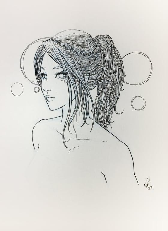 Image of jane - original drawing 9x12