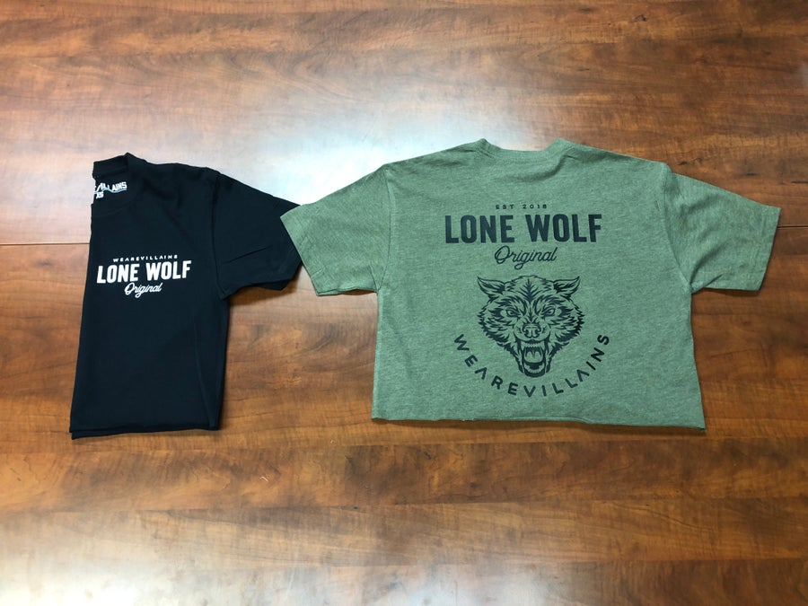 Image of Lone Wolf loose crop tee