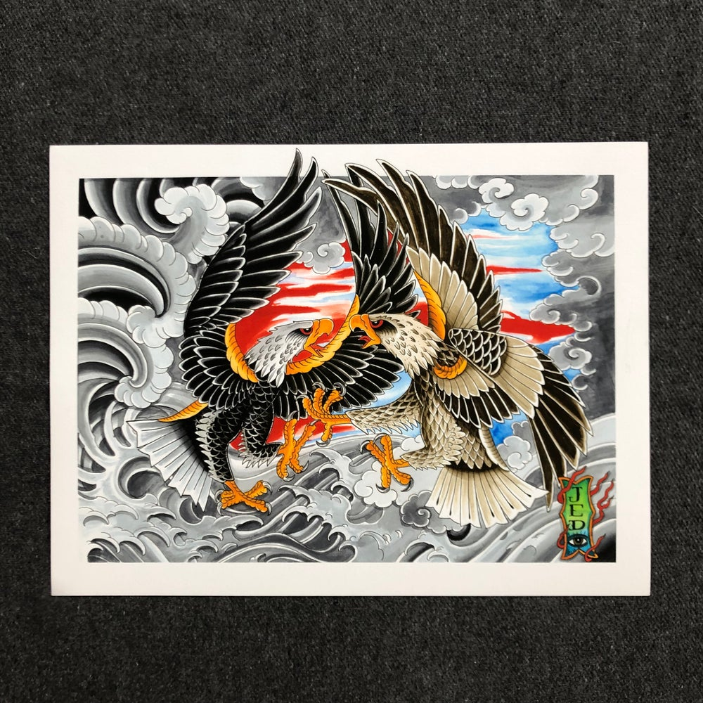Image of EAGLES AT SEA GICLEE