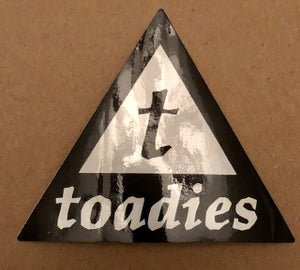 Image of Toadies Triangle T sticker
