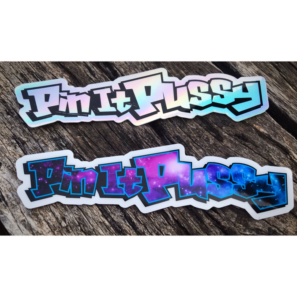 Image of Pin It Pussy Decal