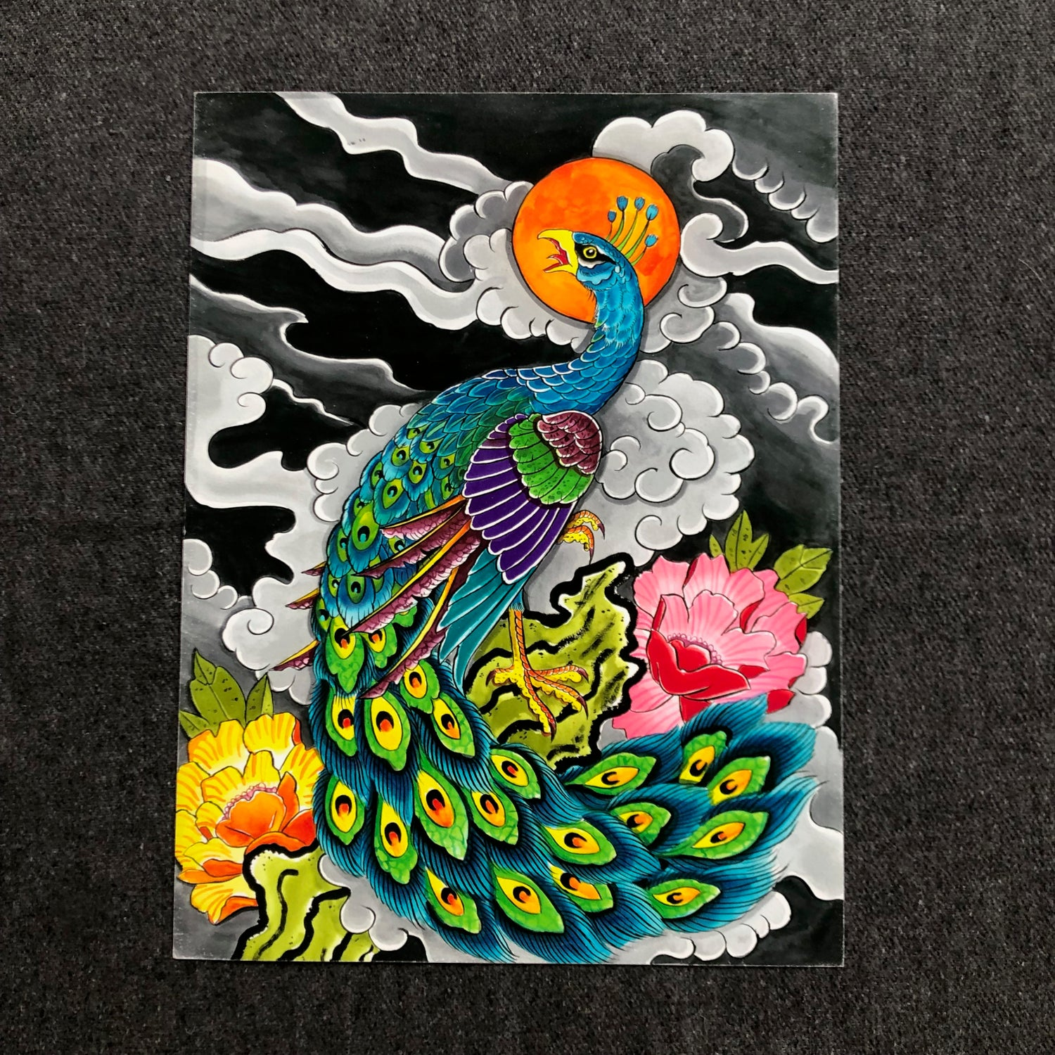 Image of PEACOCK GICLEE
