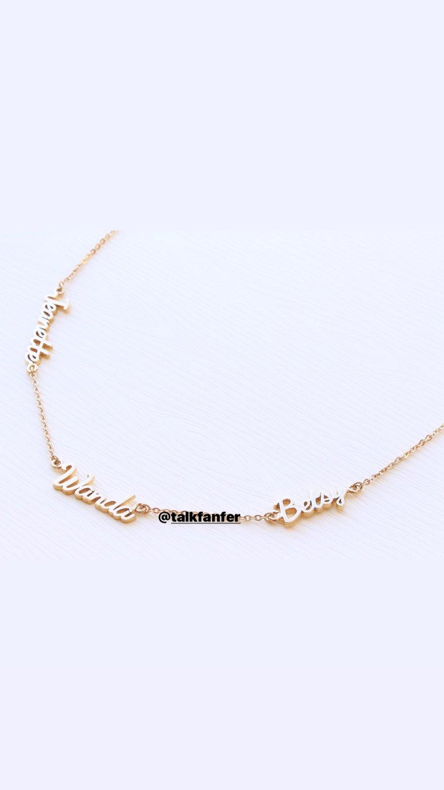 Image of CUSTOM Infinity Love necklace
