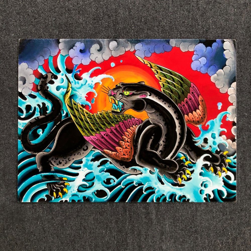 Image of FLYING PANTHER GICLEE
