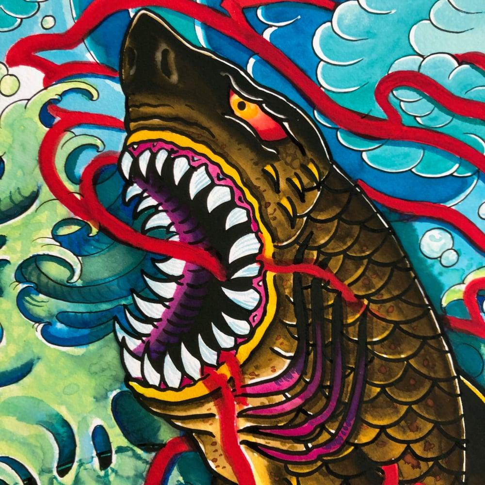 Image of SHARK GICLEE
