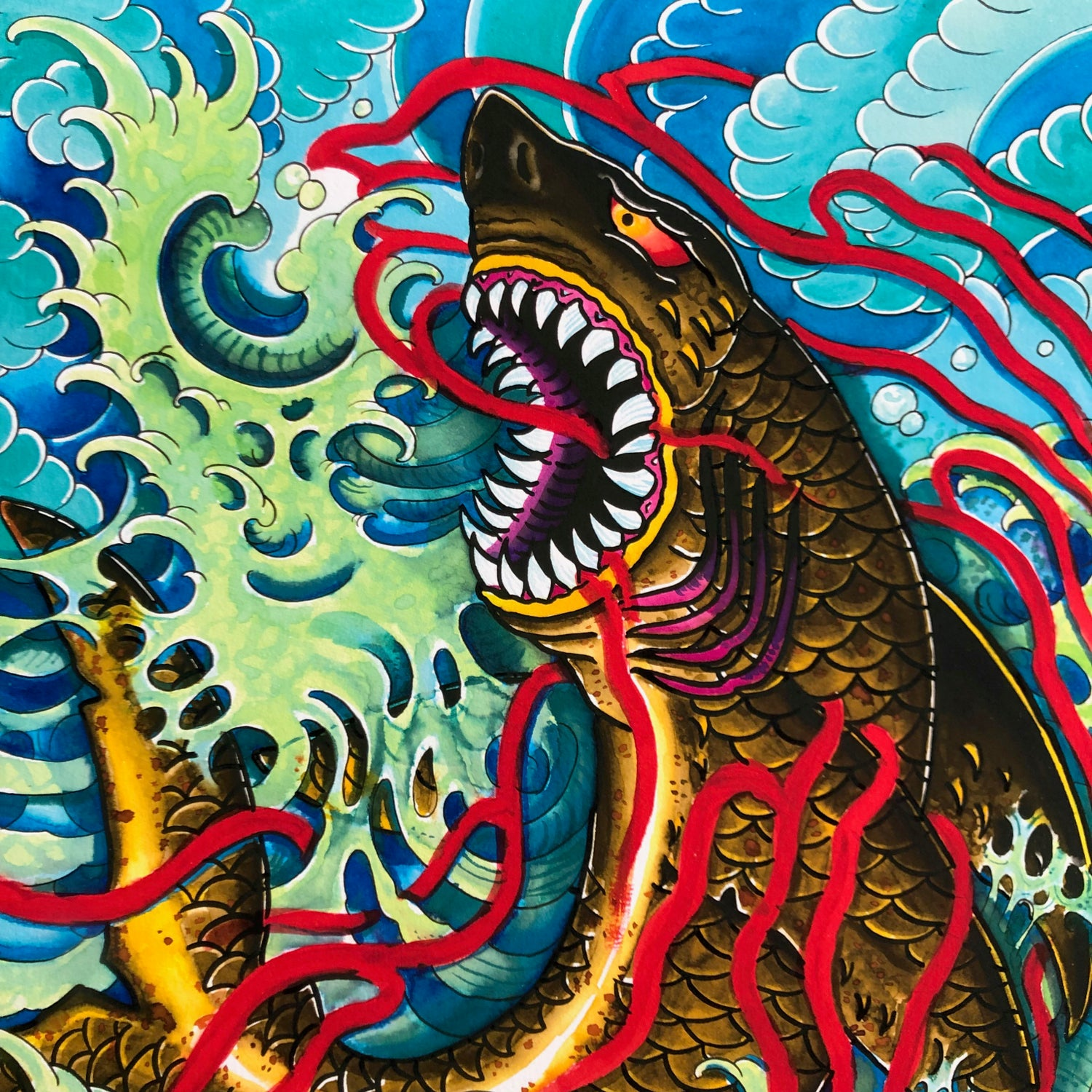 Image of SHARK GICLEE