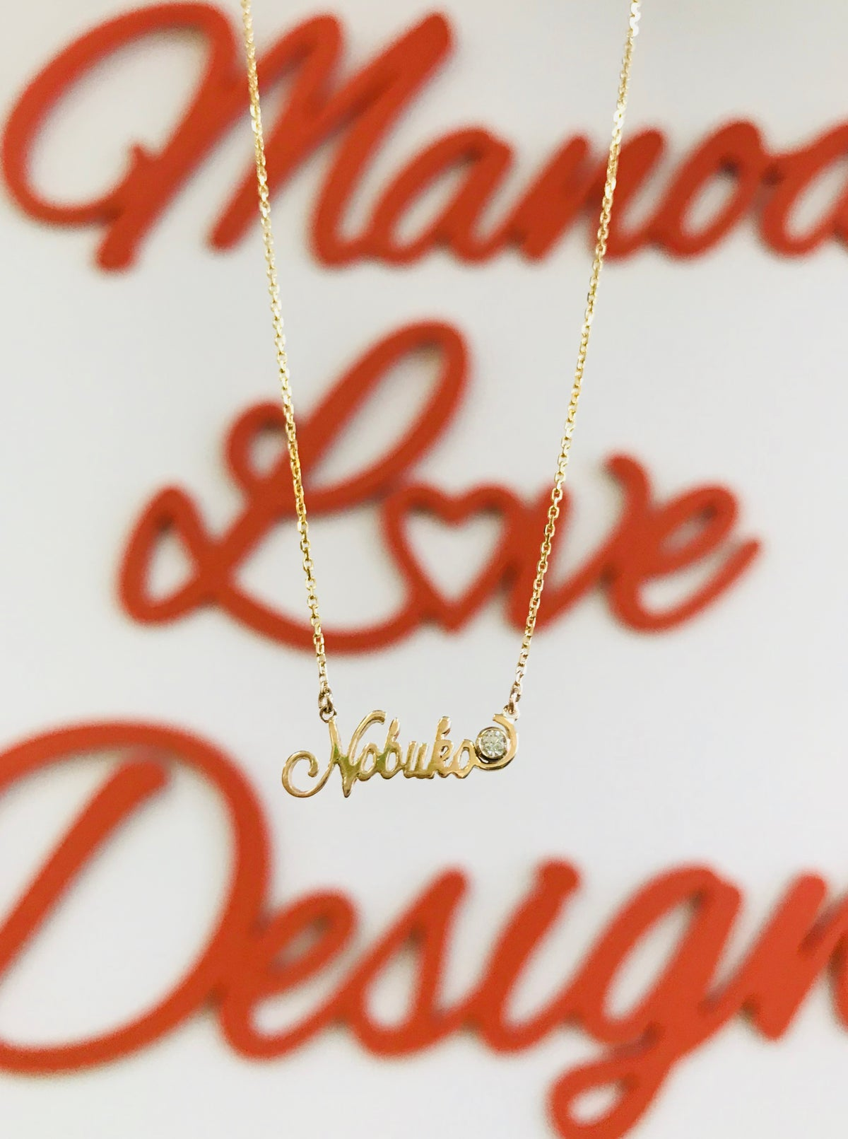 Image of diamond NAME NECKLACE