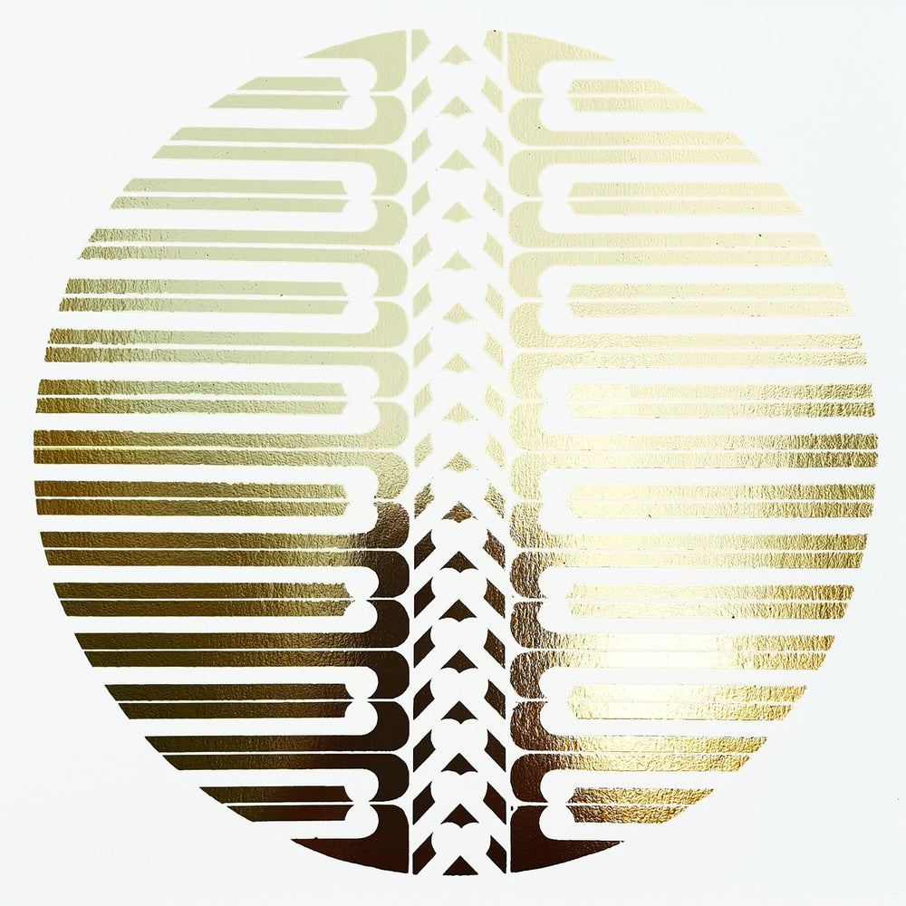 Image of 'Bones'  Limited Edition GOLD OR COPPER Screenprint
